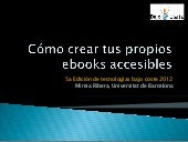 Ebooks accesibles