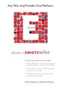 E books via swetswise