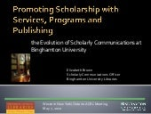 Promoting Scholarship with Services...