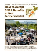Montana Farmers Market EBT Manual