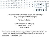 Internet and Innovation for Society