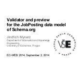 EC-WEB: Validator and Preview for the JobPosting Data Model of Schema.org