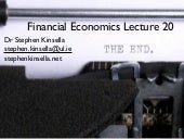 EC4024 Financial Economics Lecture ...