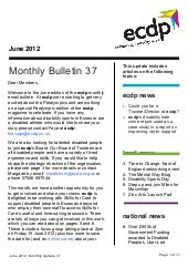 ecdp email bulletin 37 - June 2012