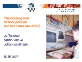 Ecer 2007: School Policies and ICT ...