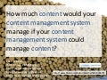 How Much Content Would Your Content Management System Manage If Your Content Management System Could Manage Content