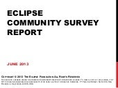 Eclipse Community Survey Report 2013