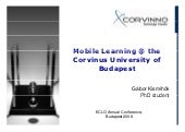 Mobile Learning@ the Corvinus Unive...