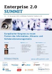 Enterprise 2.0 SUMMIT German Confer...