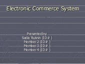 E Commerce System