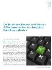 E-commerce for the Imaging Supplies...