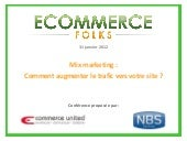 Ecommerce Folks - Mix marketing : c...
