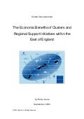 The Economic Benefits of Clusters and Regional Support Initiatives within the East of England