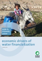 Economic drivers of water financial...