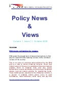 Economic Policy News And Views October 2009
