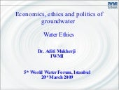 Economics, ethics and politics of g...