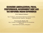 Economics liberalization and fiscal...