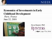 Economics of Investments in Early C...