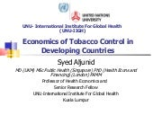 Economics Of Tobacco Control In Dev...