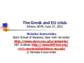 Economides -The Greek and EU crisis