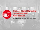 Econsultancy's State of Digital Marketing in Australia & New Zealand Report