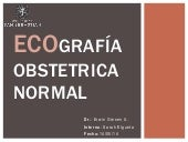 Ecografia obstetrica normal 2014 chile