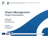 Waste Management project presentation