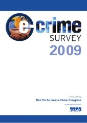 E Crime 2008 Survey