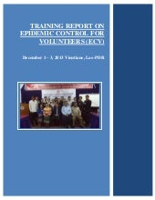 Ecv training report in laos