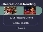 Ed 357 Recreational Reading