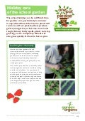 Caring for your School Garden During the Summer Holiday