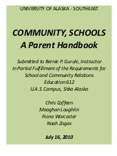 Ed612  Parent Involvement Handbook
