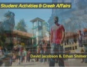 Student Activities and Greek Affairs