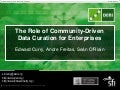 The Role of Community-Driven Data Curation for Enterprises