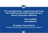 ICT and Education Lessons Learned f...