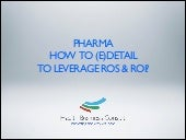 Pharma Edetailing: the core to a n...