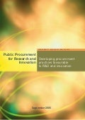 Public Procurement for Research and Innovation