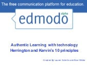 Edmodo and Herrington's 10 Principles