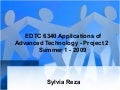 Edtc6340 Connection with Administrators - Multimedia Presentation