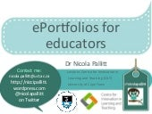 ePortfolios for educators