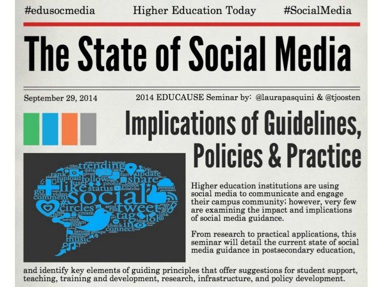 #Edu14 Seminar on the State of Social Media in Higher Ed