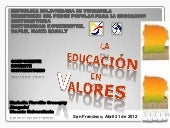 Educacion universitaria en valores