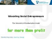 Educating social entrepreneurs