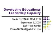 Educational Leadership 9 8 06