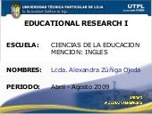 Educational Resarch I,  II Bimestre