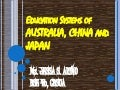 Education systems of australia, china, japan