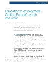 Education to employment getting eur...