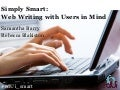 Simply Smart: Web Writing with Users in Mind
