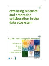 Catalysing research and enterprise collaboration in the data ecosystem
