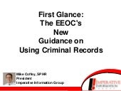 PPT: First Glance: The EEOC's New G...